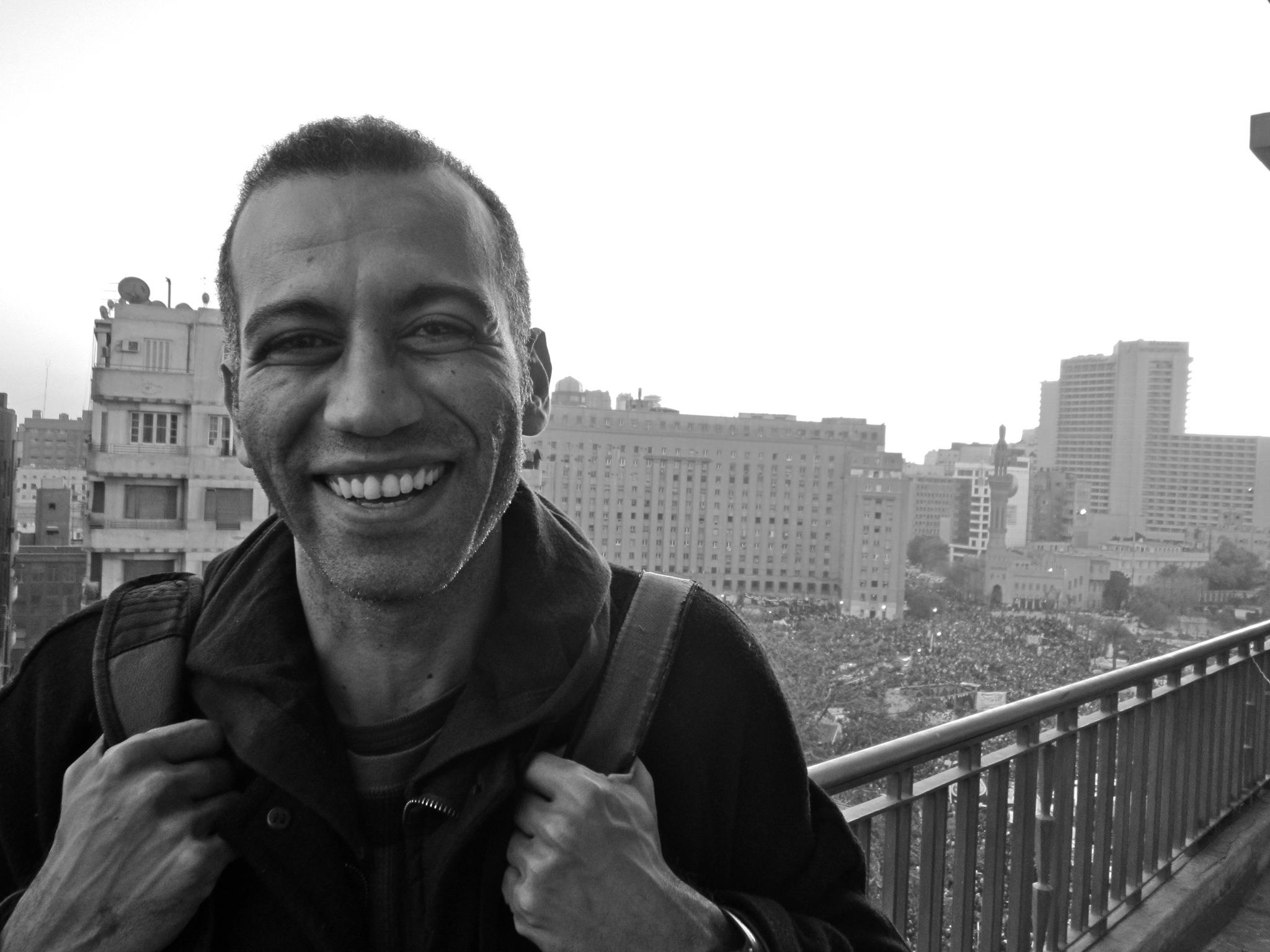 Hossam_El-Hamalawy_@_Tahrir_Square
