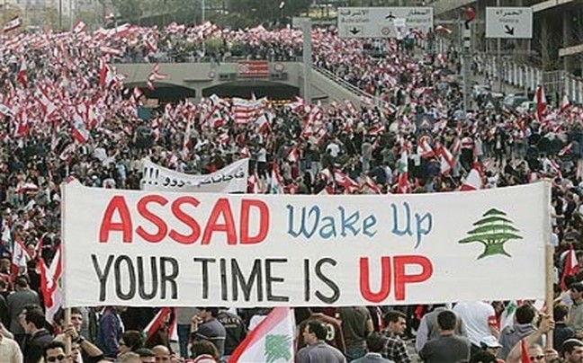 Assad Wake Up Your Time is Up