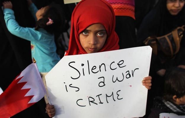 Silence is a war crime