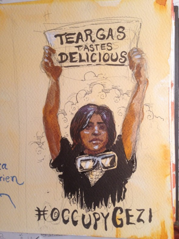 tear gas tastes delicious